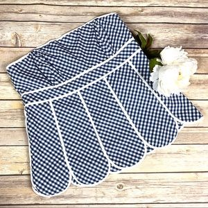 Lily Pulitzer Blue & White Gingham Strapless Top 4